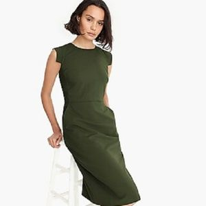 NEW J.Crew Resume Green Pencil Sheath Dress Size 0